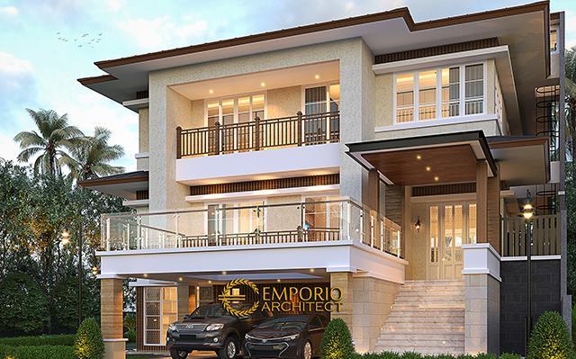 Desain Rumah Modern 3 Lantai Ibu Lucy di  Tangerang Selatan, Banten