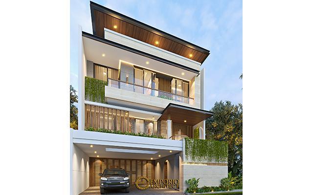 Desain Rumah Modern 3 Lantai Ibu Anya di  Jakarta