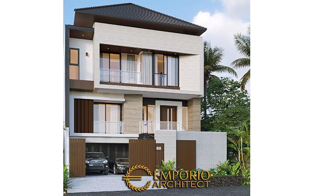 Desain Rumah Modern 3 Lantai Bapak Liu II di  Jakarta Barat