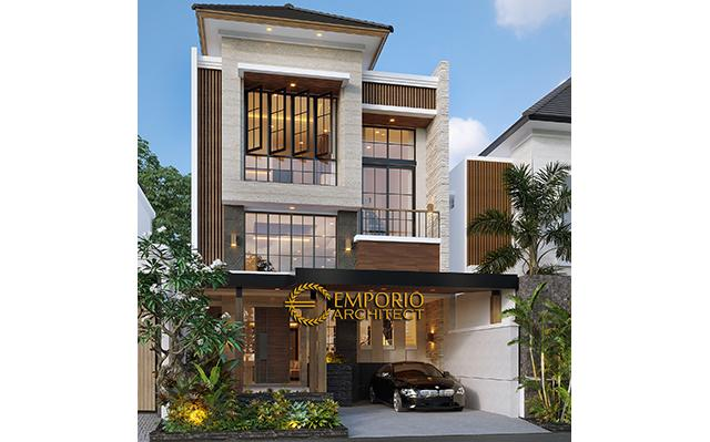 Desain Rumah Modern 3 Lantai Ibu Eli di  Bekasi, Jawa Barat