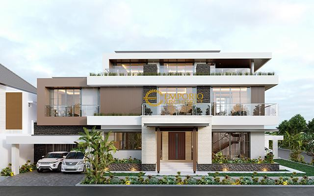 Desain Rumah Hook Modern 3 Lantai Ibu Eva di  Jakarta Utara
