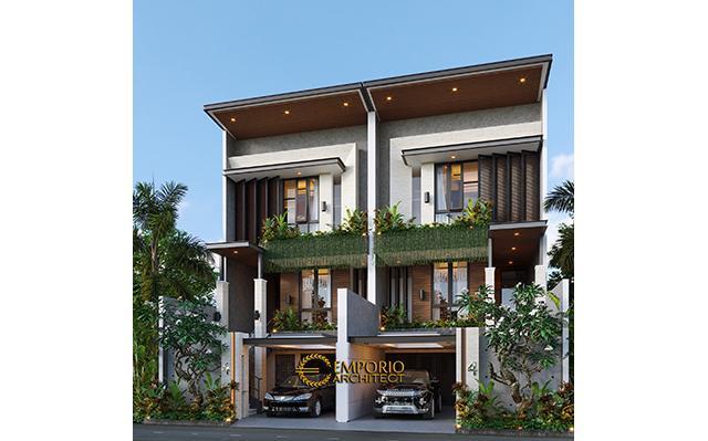 Desain Rumah Modern 3 Lantai Ibu Gena di  Jakarta Selatan