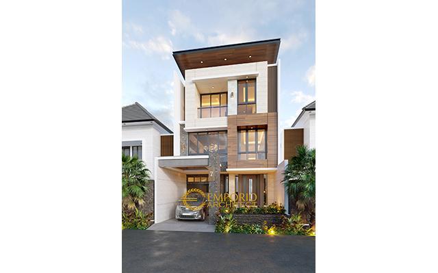 Desain Rumah Modern 3 Lantai Ibu Iyus di  Jakarta