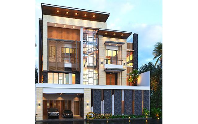 Mrs. Cannida Modern House 3.5 Floors Design - Jakarta Barat