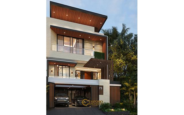 Mr. David Modern House 3.5 Floors Design - Jakarta Barat