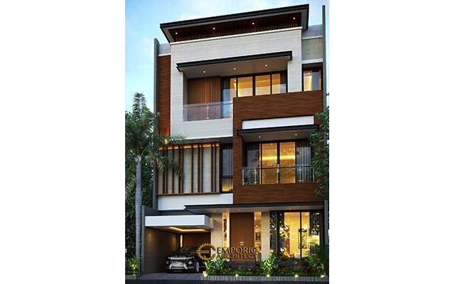 Mr. Charles Modern House 4 Floors Design - PIK, Jakarta Utara