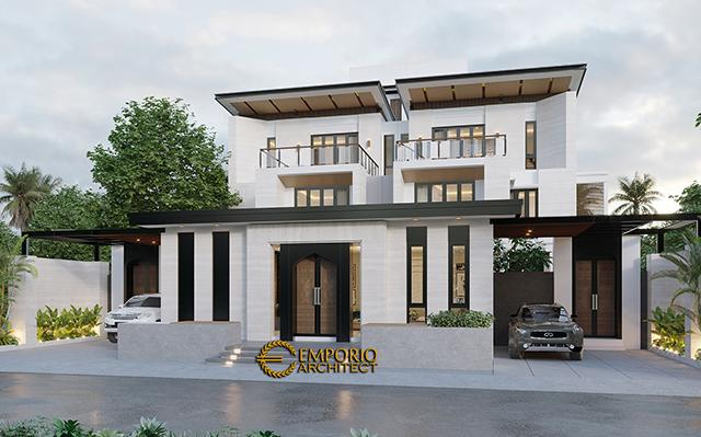 Mr. Qasem Modern House 4 Floors Design - Arab Saudi