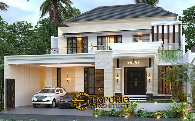 Mr. Nanda Modern Classic House 2 Floors Design - Padang, Sumatera Barat