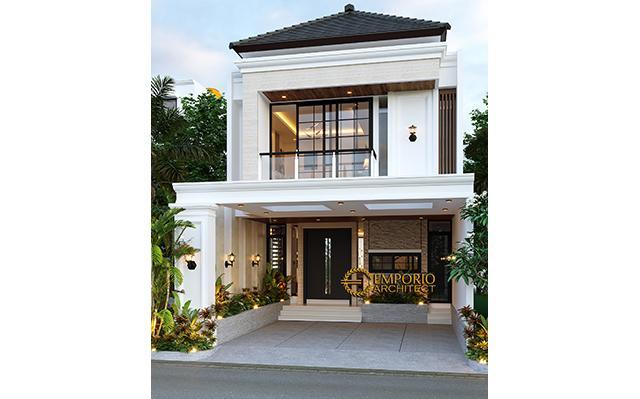 Desain Rumah Modern Classic 2.5 Lantai Bapak Dwi di  Jakarta Selatan
