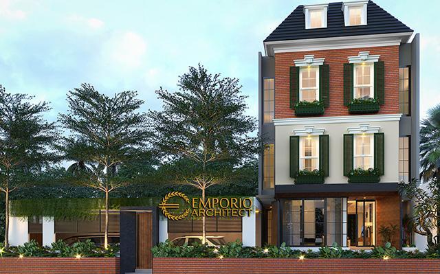 Desain Rumah Modern Classic 4.5 Lantai Ibu Santi di  Jakarta Selatan