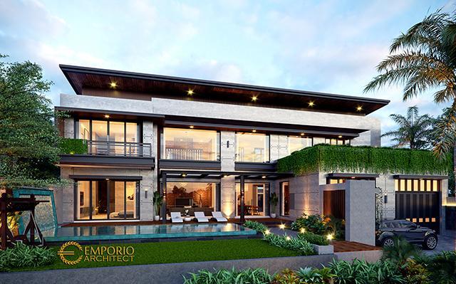 Desain Rumah Modern Industrial 2 Lantai Ibu Wijaya di  Yogyakarta