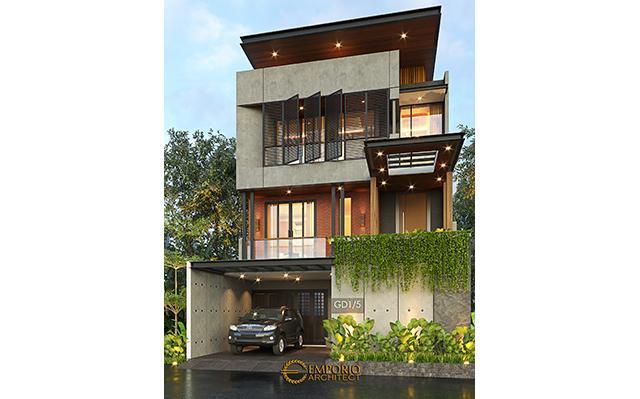 Desain Rumah Modern Industrial 3 Lantai Bapak Fadil di  Tangerang Selatan, Banten