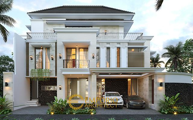 Mrs. Winda Modern Classic House 3 Floors Design - Padang, Sumatera Barat