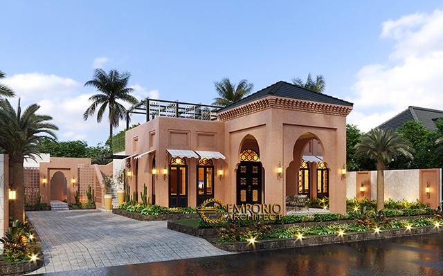 Desain Rumah Moroccan Style 1.5 Lantai Bapak M. Ahmad di  Cirebon, Jawa Barat
