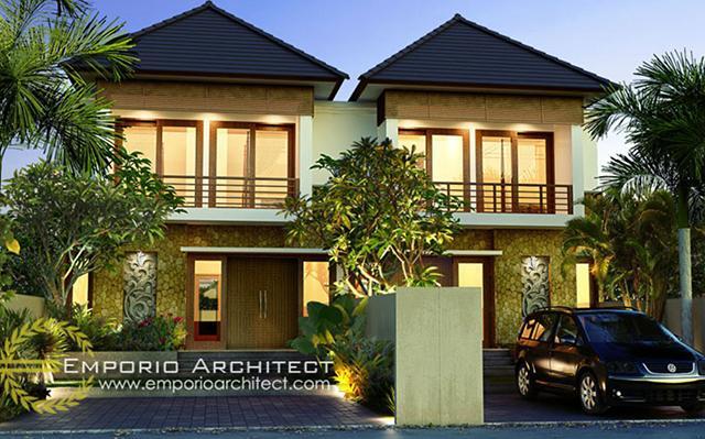 Desain Rumah Villa Bali 2 Lantai Ibu Nyomi di  Denpasar, Bali