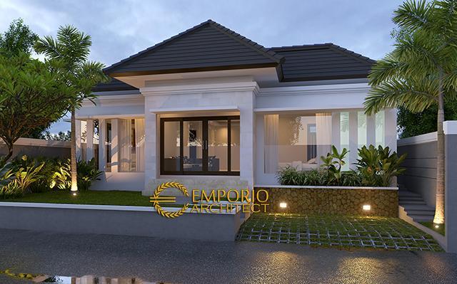 Desain Rumah Villa Bali 1 Lantai Pak Syaikhul Islam di  Surabaya