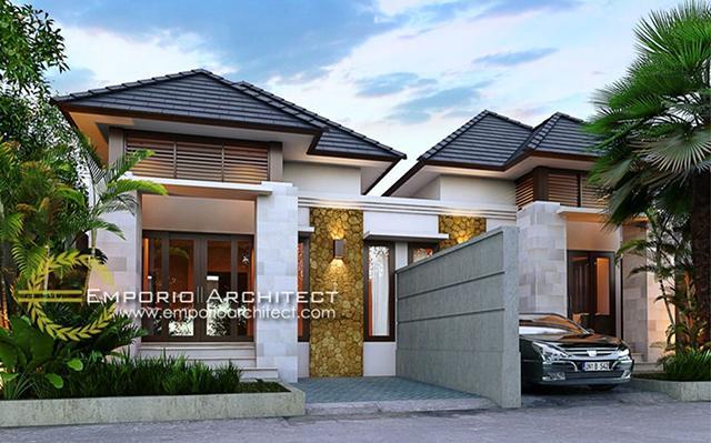 Mr. Putra Villa Bali House 1 Floor Design - Depok