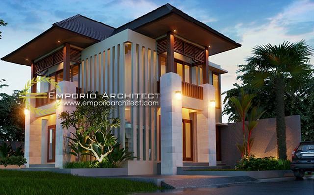 Desain Rumah Villa Bali 2 Lantai Bapak Putu Yudi di  Denpasar, Bali