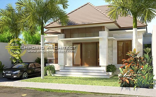 Desain Rumah Villa Bali 1 Lantai Ibu Riani di  Jimbaran, Bali