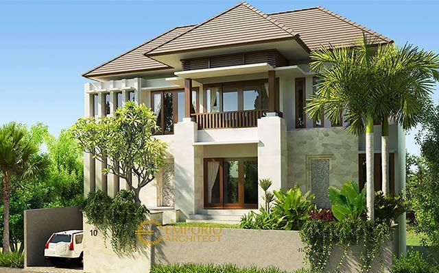 Desain Rumah Villa Bali 2 Lantai Bapak Dr. Rumbawa di  Denpasar, Bali