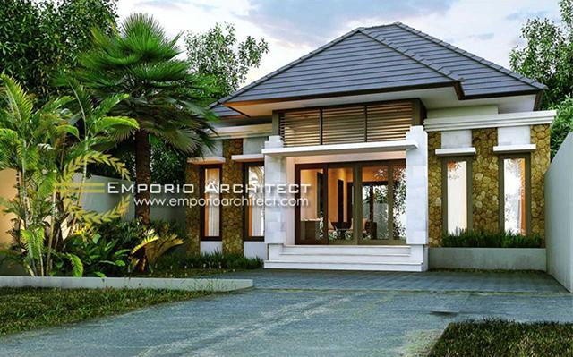 Mr. Sangging Villa Bali House 1 Floor Design - Gianyar, Bali