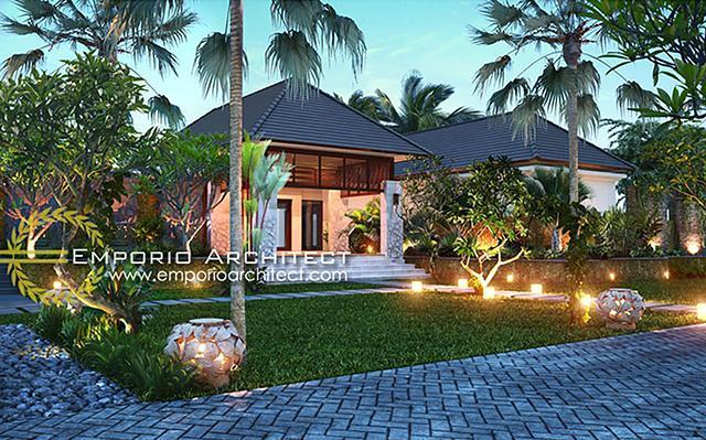 Mrs. Taty Villa Bali House 1 Floor Design - Banten
