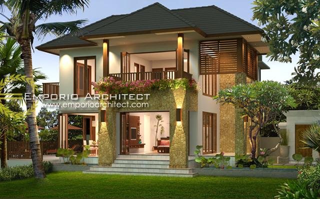Desain Rumah Villa Bali 2 Lantai Bapak Tri Widana di  Singaraja, Bali