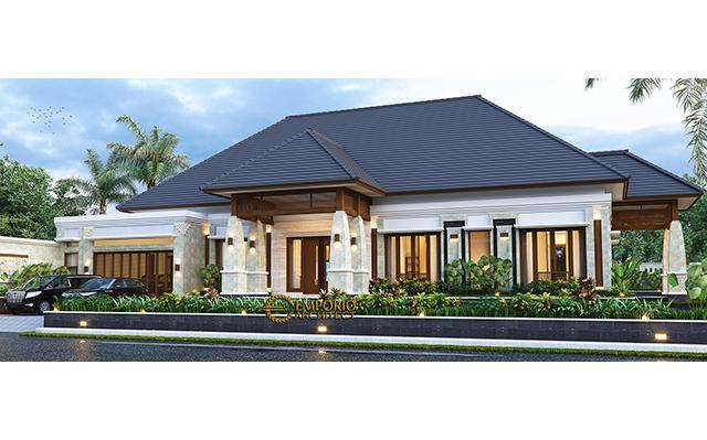 Desain Rumah Villa Bali 1 Lantai Ibu Asih di  Pangkalan Bun, Kalimantan Tengah