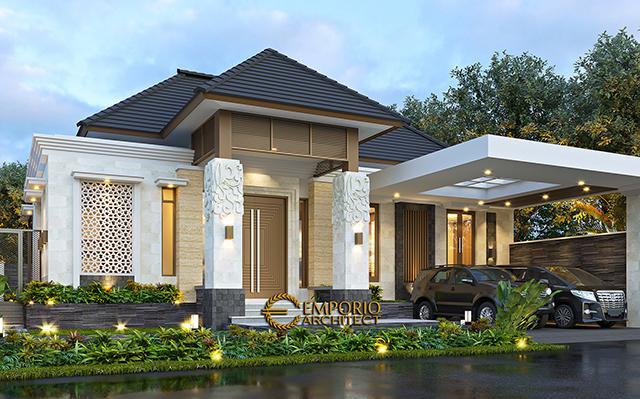 Mrs. Dewi Villa Bali House 1 Floor Design - Purwakarta