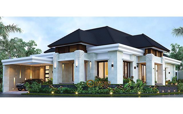 Desain Rumah Villa Bali 1 Lantai Bapak Tony Yauwri di  Makassar, Sulawesi Selatan