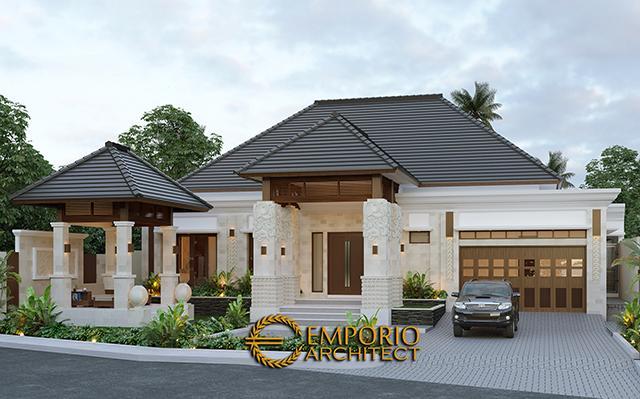 Desain Rumah Villa Bali 1 Lantai Bapak Ayat di  Serang, Banten