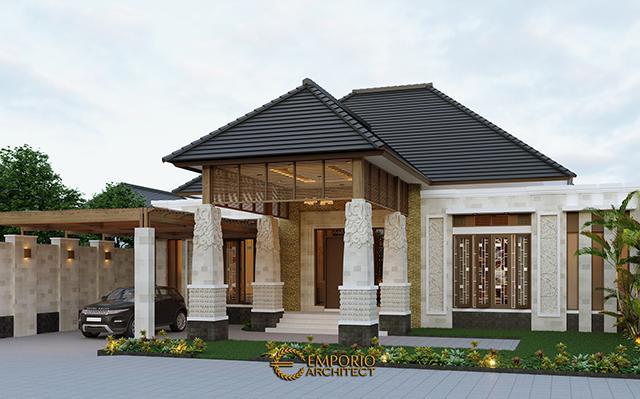 Desain Rumah Villa Bali 1 Lantai Bapak Jon di  Pekanbaru, Riau