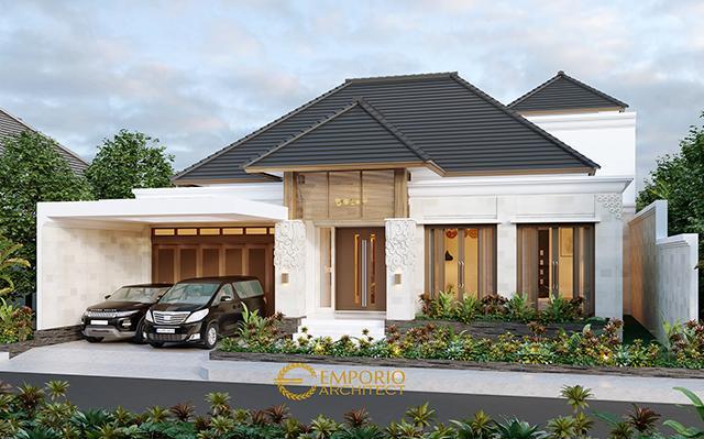 Desain Rumah Villa Bali 1.5 Lantai Bapak Baihaqi di  Aceh