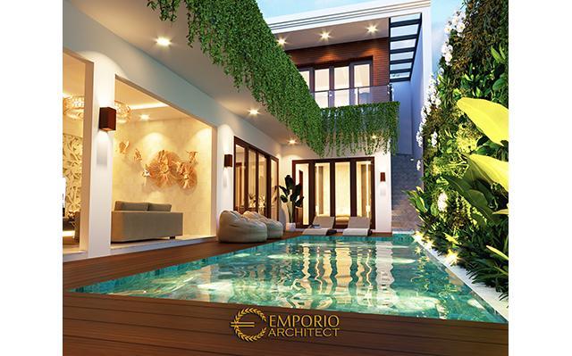 Desain Rumah Villa Bali 2 Lantai Bapak Gilbert di  Bali
