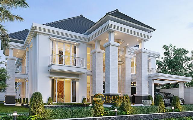Desain Rumah Villa Bali 2 Lantai Bapak Ferry di  Pekanbaru, Riau