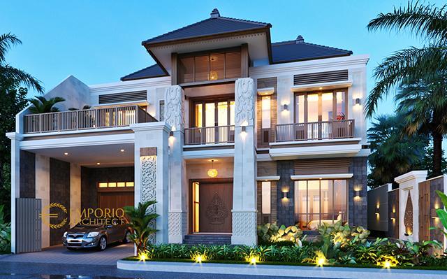 Desain Rumah Villa Bali 2 Lantai Bapak Era Johny di  Surakarta, Jawa Tengah