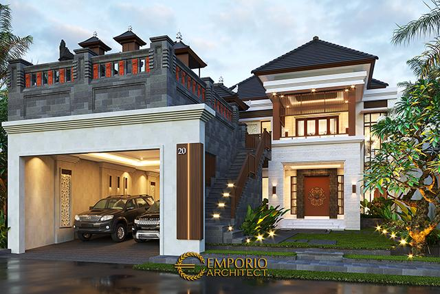 Desain Rumah Villa Bali 2 Lantai Bapak Sanjaya di  Denpasar, Bali