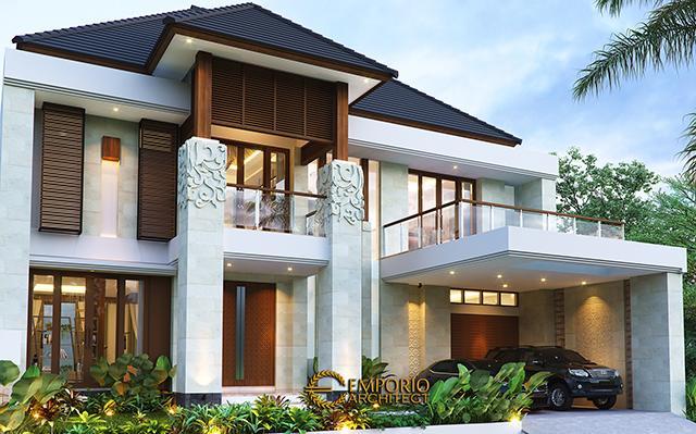 Desain Rumah Villa Bali 2 Lantai Bapak Andi di  Bandung, Jawa Barat