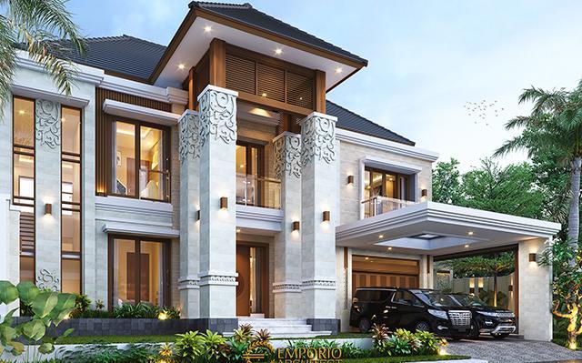 Desain Rumah Villa Bali 2 Lantai Bapak Erik di  Malang, Jawa Timur