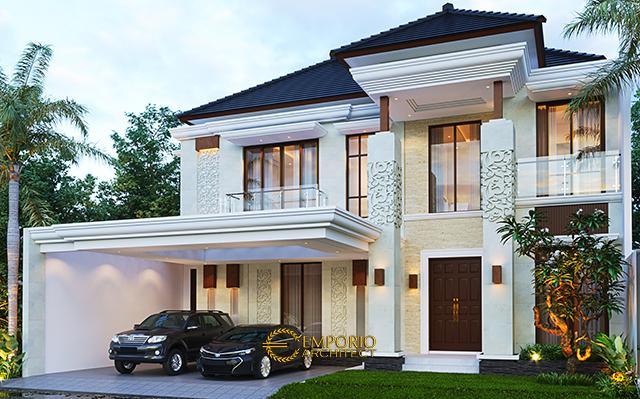 Desain Rumah Villa Bali 2 Lantai Ibu Rosa di  Bogor, Jawa Barat
