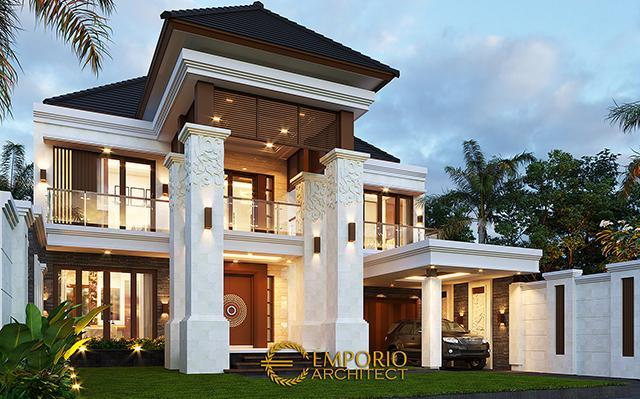 Desain Rumah Villa Bali 2 Lantai Bapak Daniel di  Gorontalo