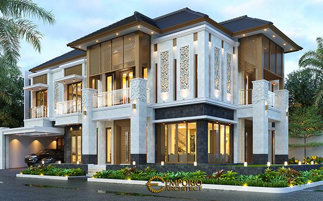Desain Rumah Villa Bali 2.5 Lantai Bapak Riduan di  Bekasi, Jawa Barat