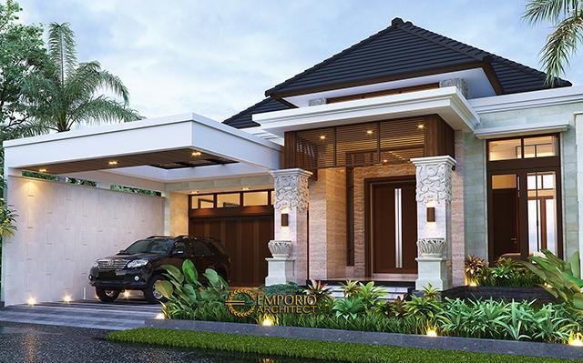 Desain Rumah Villa Bali Modern 1 Lantai Bapak Eddy di  Kediri, Jawa Timur
