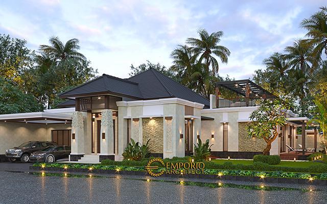 Desain Rumah Villa Bali Modern 1.5 Lantai Ibu Theresia di  Cipayung, Jakarta Timur