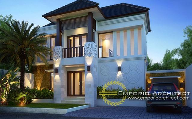 Desain Rumah Villa Bali 2 Lantai Bapak Wayan Budi di  Denpasar, Bali