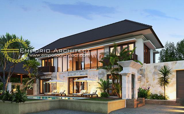 Desain Rumah Villa Bali 2 Lantai Ibu Yoni di  Tabanan, Bali