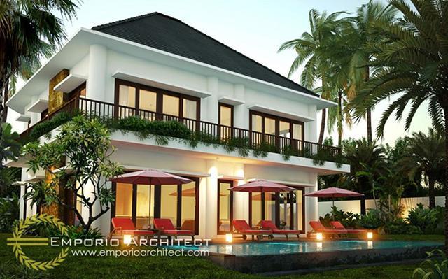 Desain Villa Style Villa Bali 2 Lantai Bapak Gung Suryo di  Gianyar, Bali