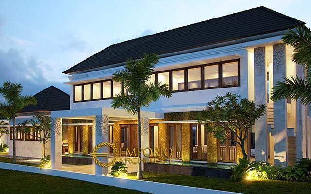 Desain Villa Style Villa Bali 2 Lantai Bapak Johan di  Jakarta