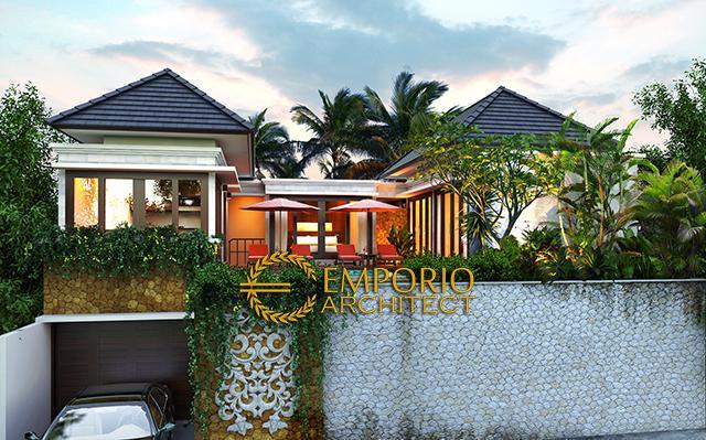 Desain Villa Style Villa Bali 2 Lantai Bapak Wahyu di  Malang