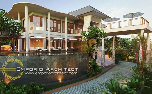 Desain Villa Style Villa Bali 2 Lantai Ibu Deby di  Bali